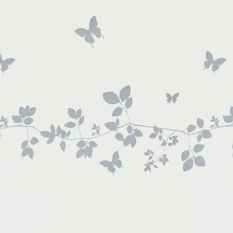 Vine And Butterfly Silhouette swatch