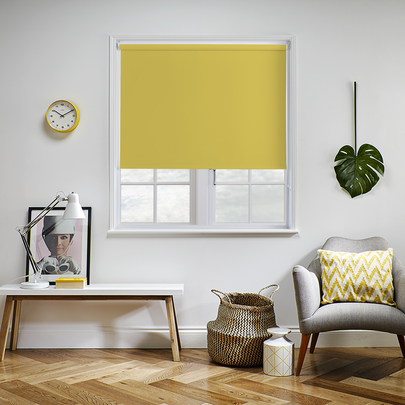 Yellow Roller Blinds Yellow Coloured Roller Blinds Made