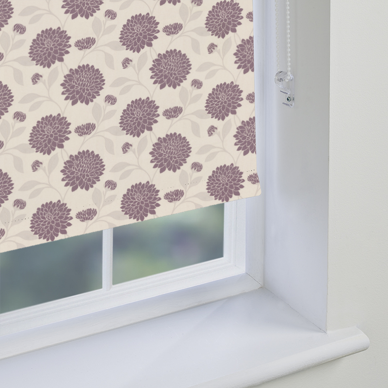 Purple Roller Shades : Purple patterned roller blinds made to measure from direct