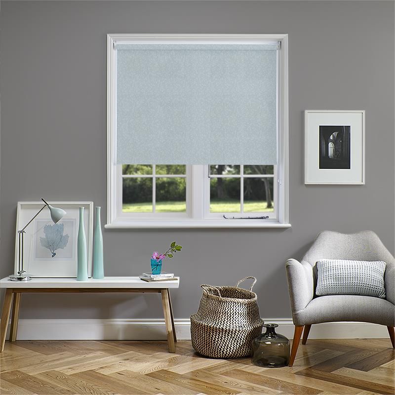 Nina Duck Egg Electric Roller Blind Direct Blinds