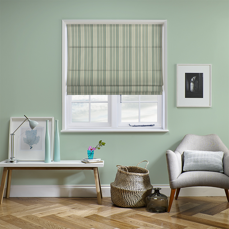 Beachwood Eau De Nil Roman Blind Direct Blinds