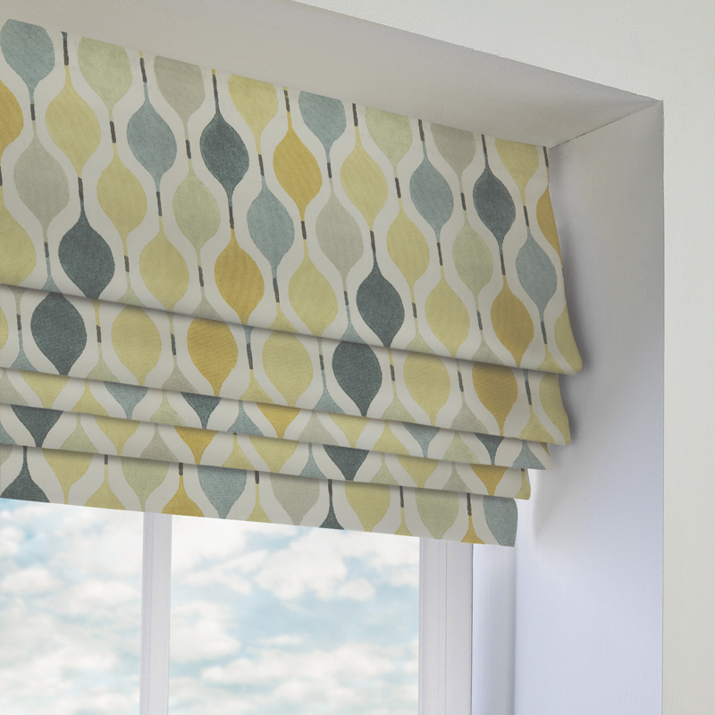 Verve linen roman blind direct blinds for Linen shades window treatments
