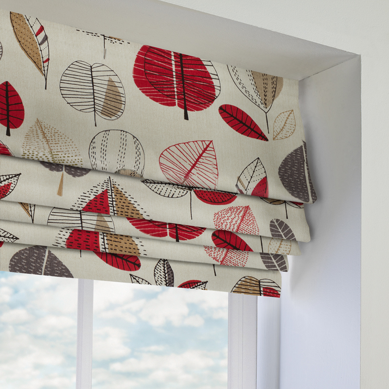 Maple Red Berry Roman Blind Direct Blinds