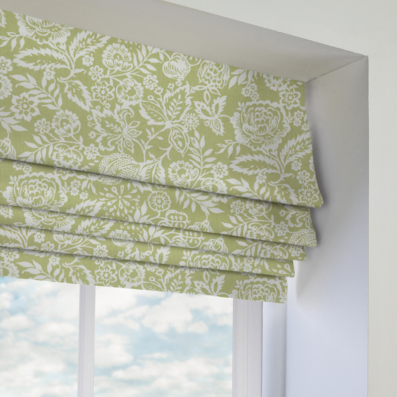 Lime Green Kitchen Blinds: Roman Blinds Made To Measure, Custom Fit Roman Blinds