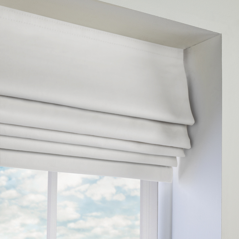 White, Bedroom Roman Blinds. Made to Measure from Direct Blinds