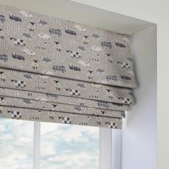 Roman Blinds Baa Baa Charcoal