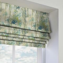 Roman Blinds Silver Birch Larkspur