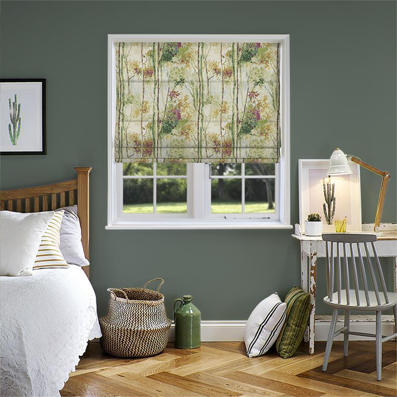 Silver Birch Orchid Roman Blind Direct Blinds