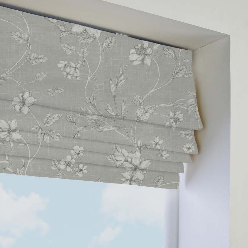 etched vine feather roman blind direct blinds