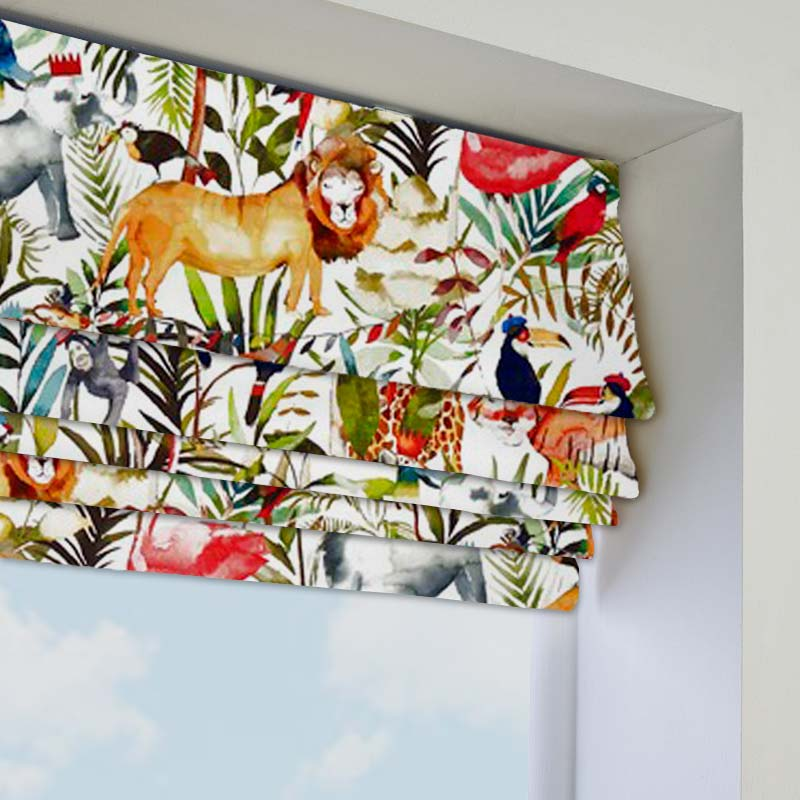 King Of The Jungle Safari Roman Blind Direct Blinds