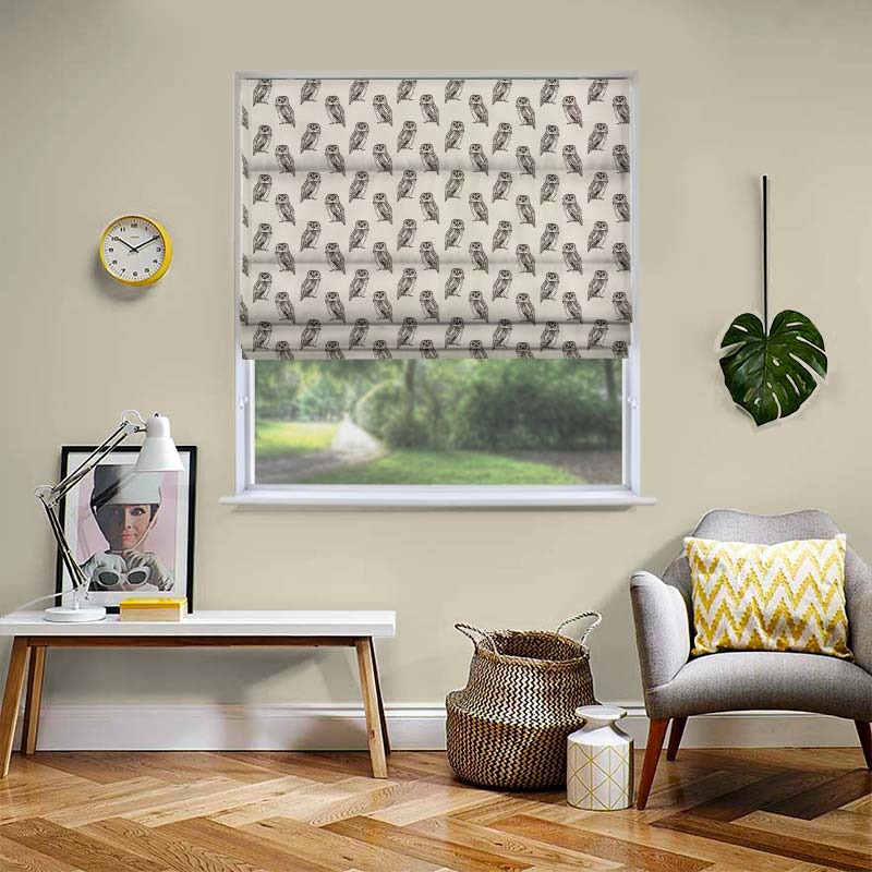 Owlet Canvas Roman Blind Direct Blinds