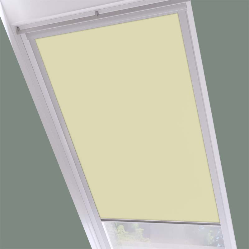 Roof Blinds Luna Blackout Cream - Silver Frame