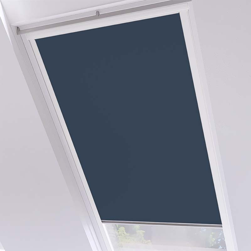 Roof Blinds Luna Blackout Navy - White Frame