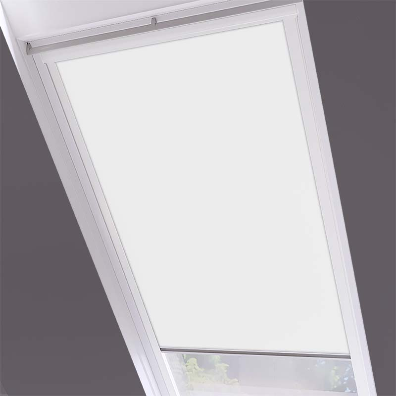 Roof Blinds Luna Blackout White - White Frame