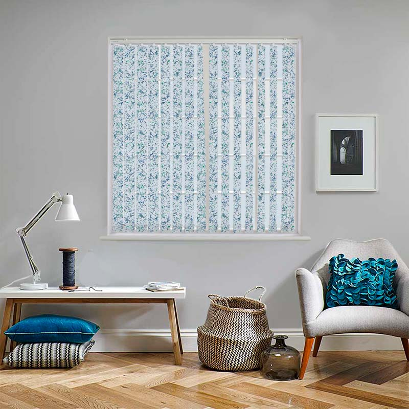 Tropicana Blue Lagoon 89mm Vertical Blind Slats