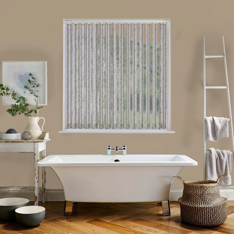Woodland Silver Birch 89mm Vertical Blind Slat
