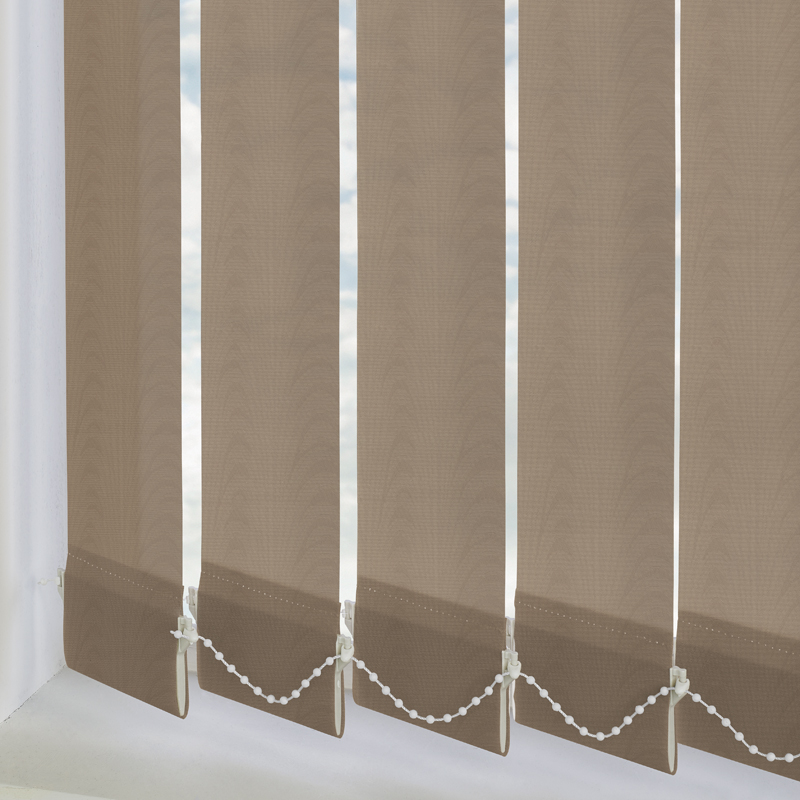 Amsterdam Mocha 89mm Vertical Blind Slats