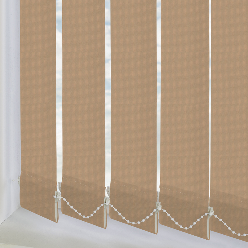 Atlantex Solar Dark Beige 89mm Vertical Blind Slats
