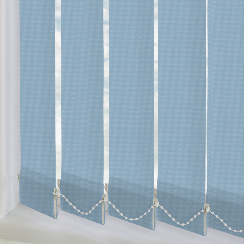 Atlantex Blue 89mm Vertical Blind Slats