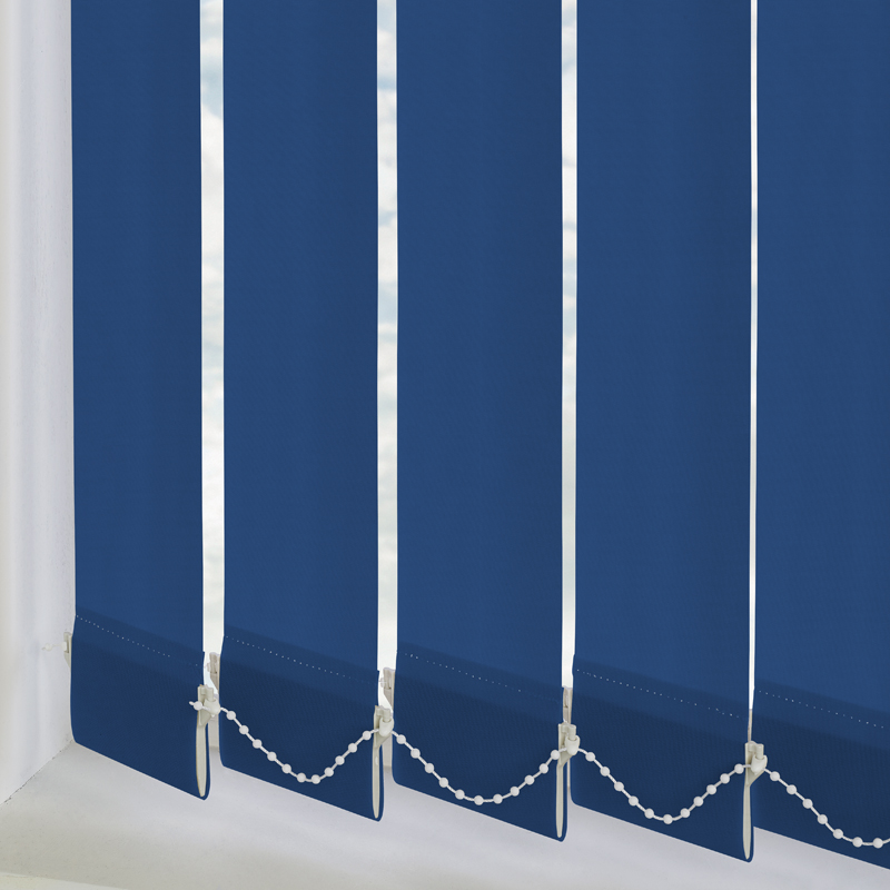 Atlantex Dark Blue 89mm Vertical Blind Slats
