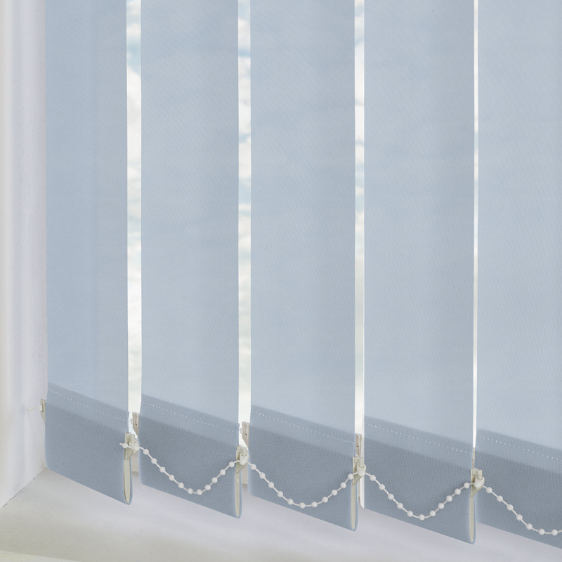 Bermuda Plain Air Blue 89mm Vertical Blind Slats