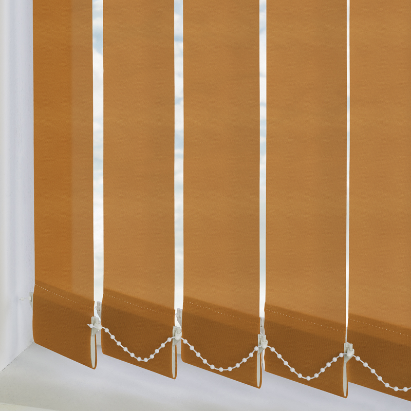 Bermuda Plain Bran 89mm Vertical Blind Slats