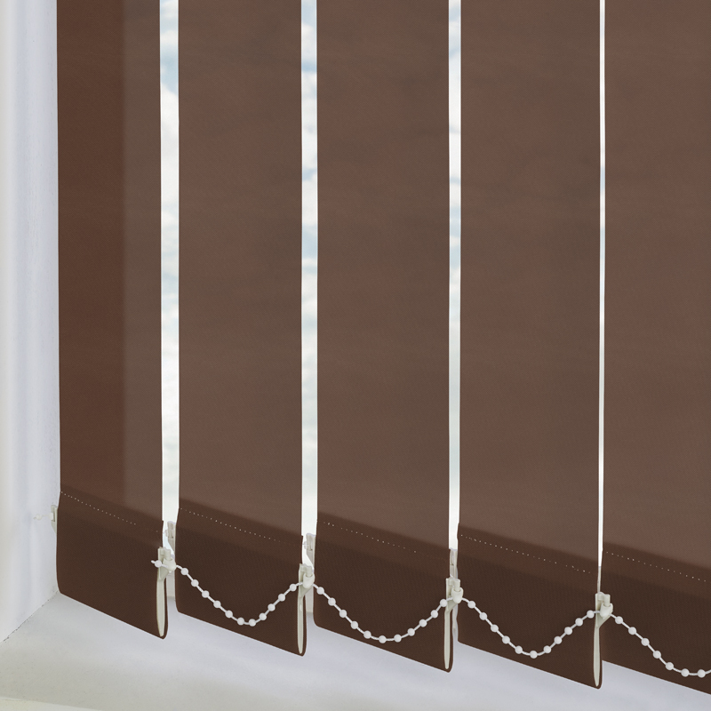 Bermuda Plain Cappuccino 89mm Vertical Blind Slats