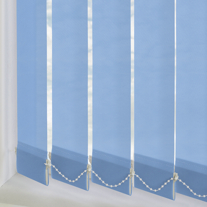 Bermuda Plain Light Blue 89mm Vertical Blind Slats
