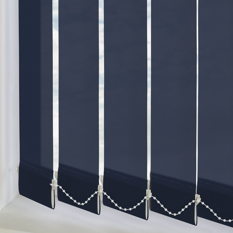 Bermuda Plain Navy Blue 89mm Vertical Blind Slats