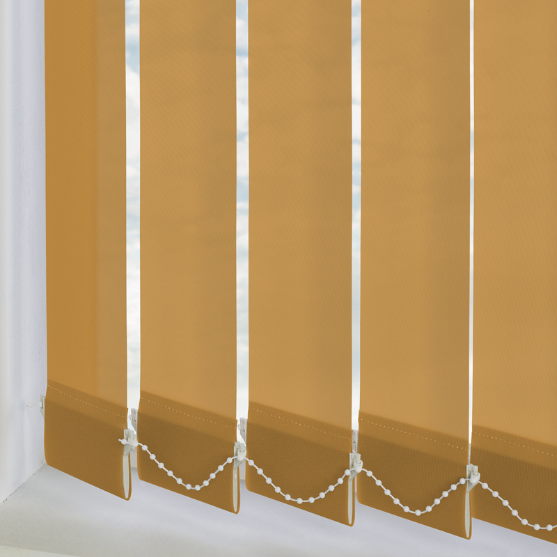 Bermuda Plain Ochre 89mm Vertical Blind Slats