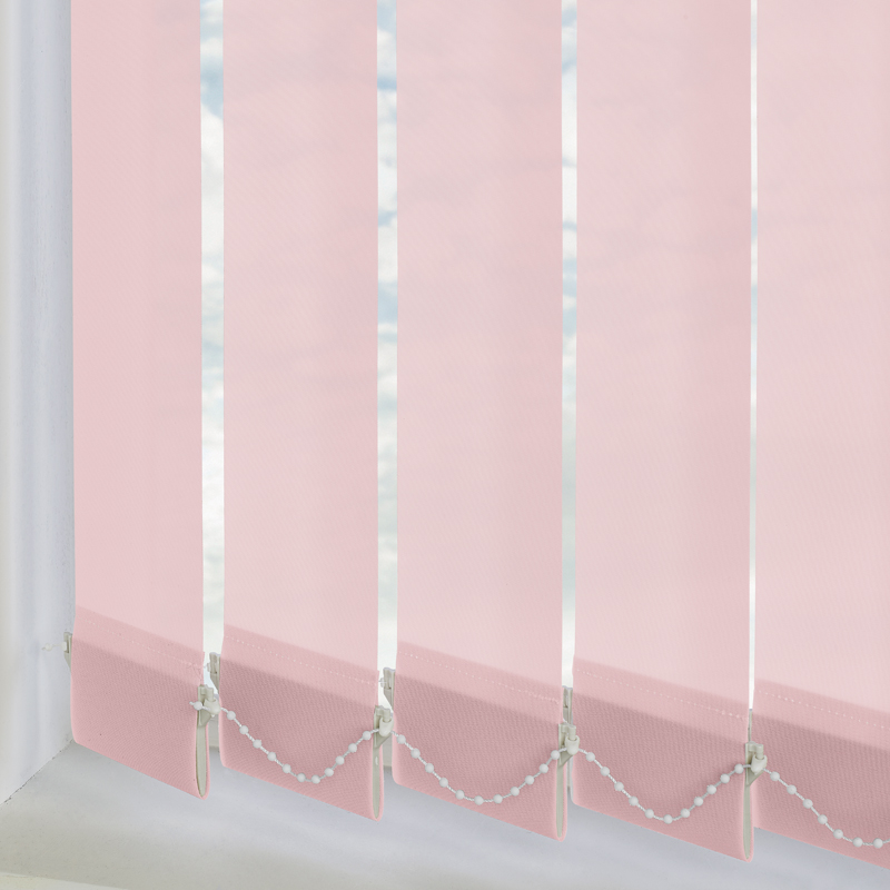 Bermuda Plain Pink 89mm Vertical Blind Slats