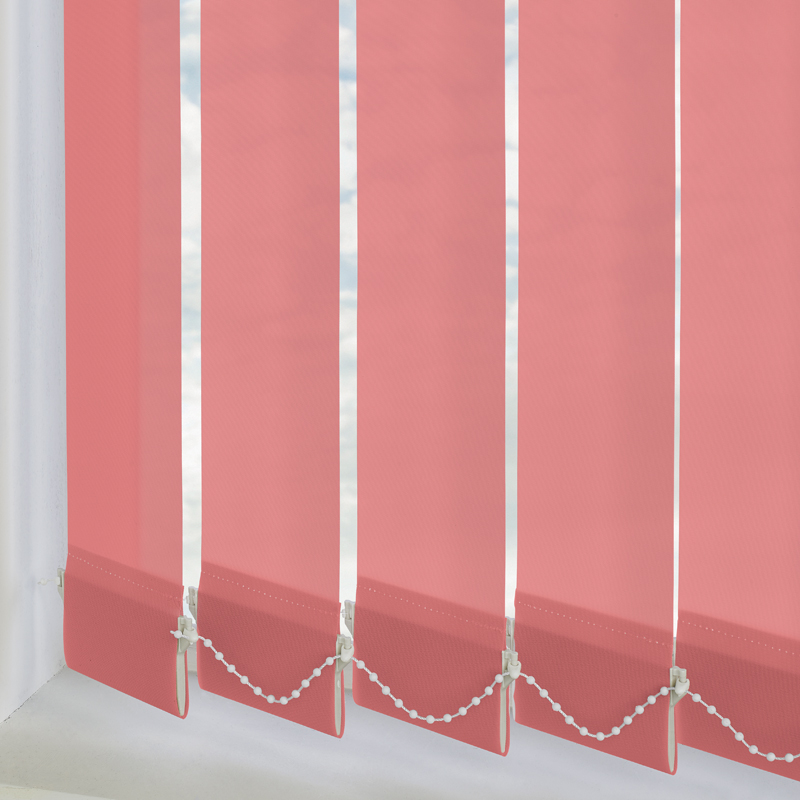 Bermuda Plain Rose 89mm Vertical Blind Slats