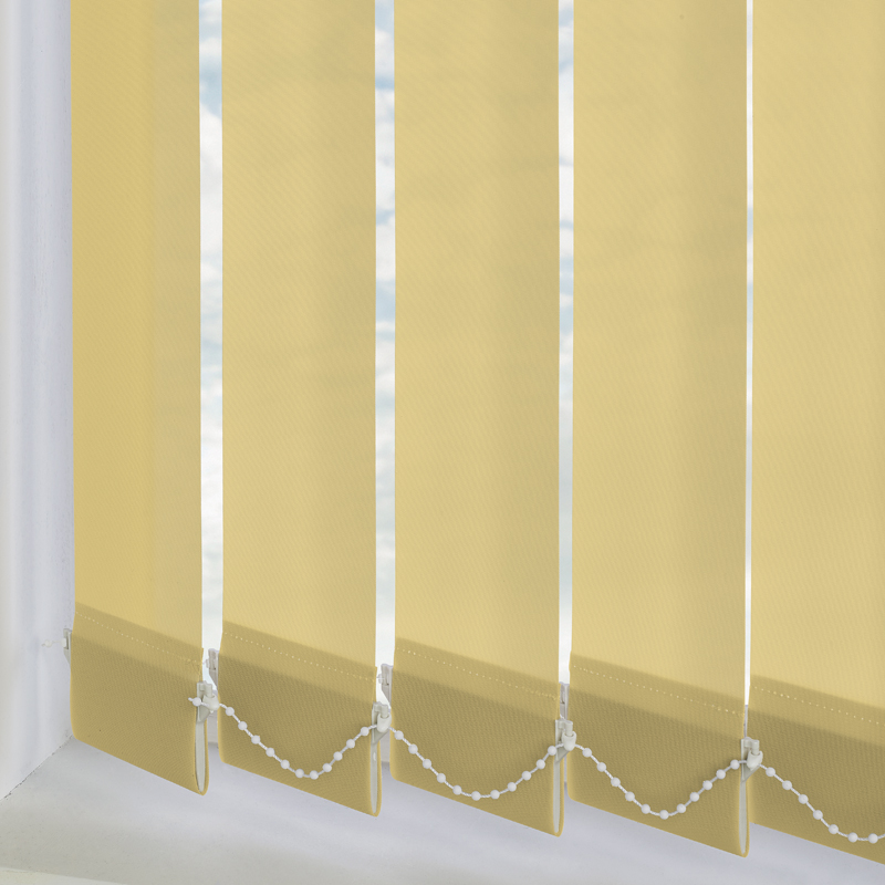Yellow Vertical Blind Slats Made To Measure From Direct