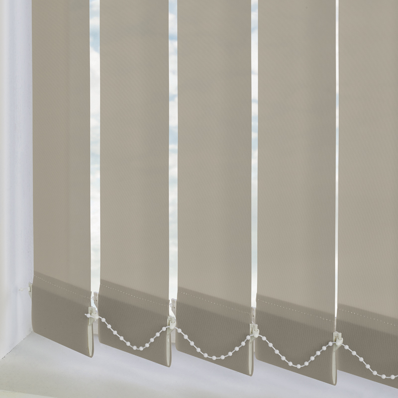 Bermuda Plain Taupe 89mm Vertical Blind Slats
