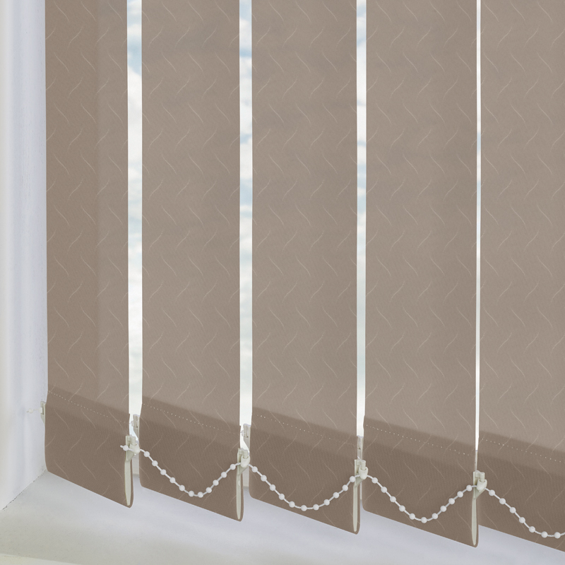 Calla Mocha 89mm Vertical Blind Slats