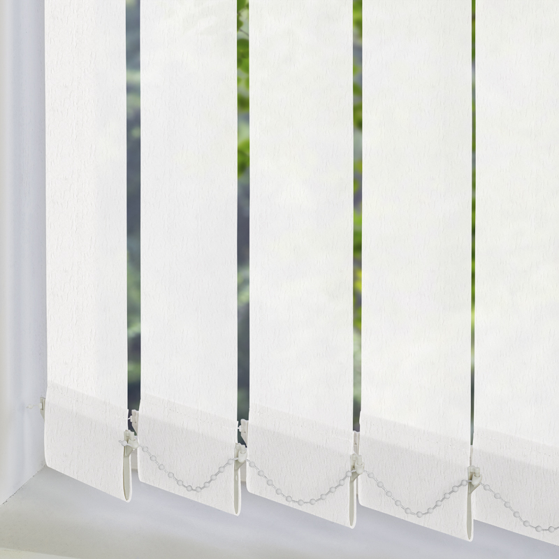 Cleo White 89mm Vertical Blind Slats