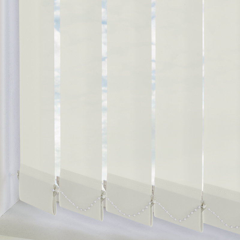 Genesis Cream 89mm Vertical Blind Slats