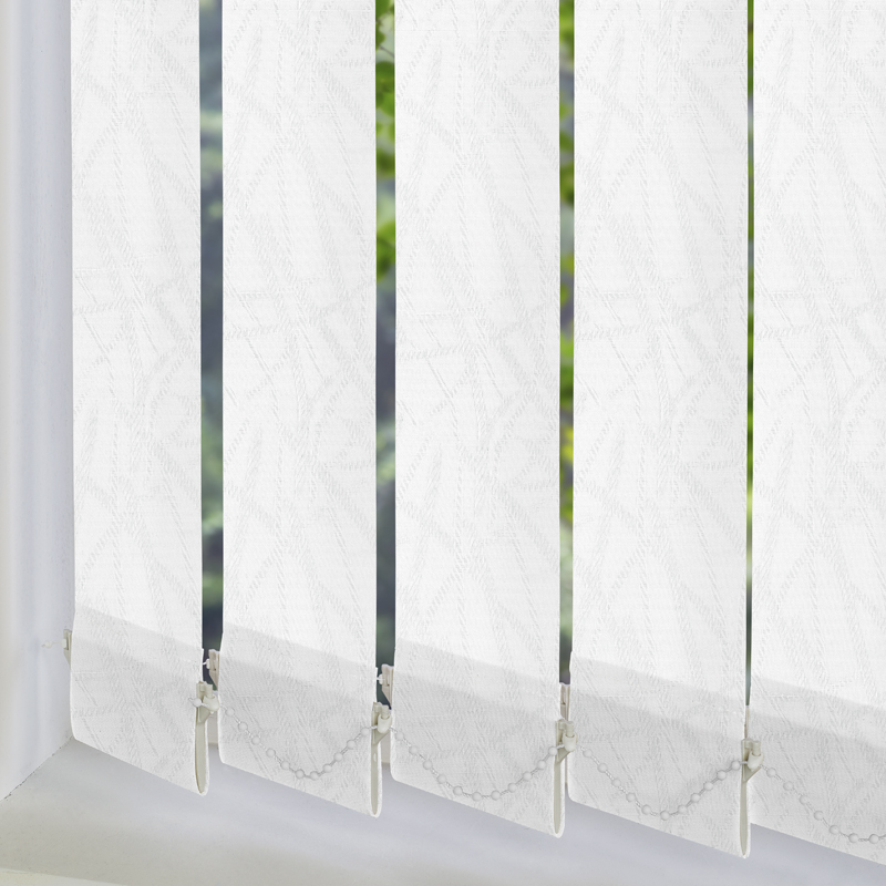 White Vertical Blind Slats Made To Measure From Direct Blinds