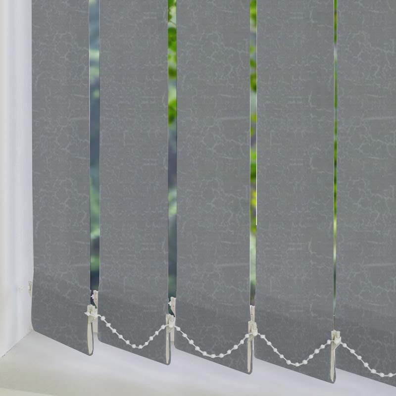 Marble PVC Blackout Silver 89mm Vertical Blind Slats