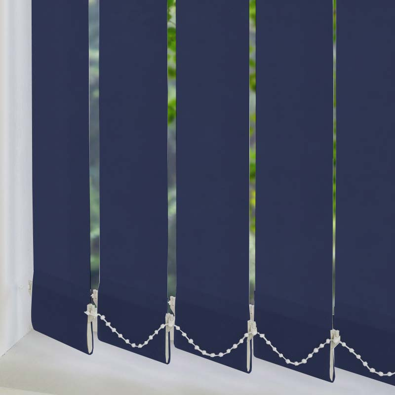 Palette Dark Blue 89mm Vertical Blind Slats