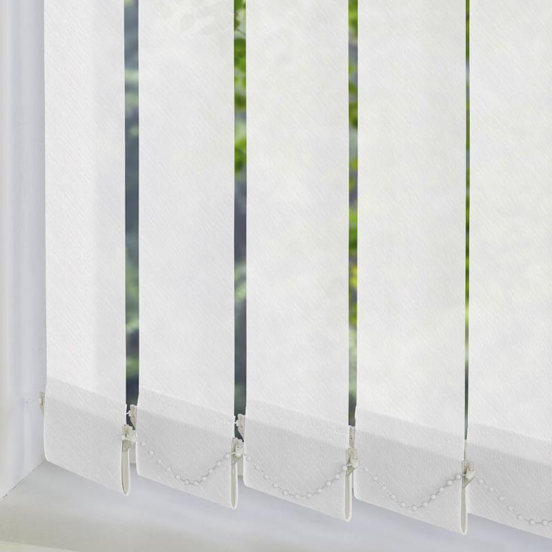 Amaris White 89mm Vertical Blind Replacement Slats Swift Direct Blinds