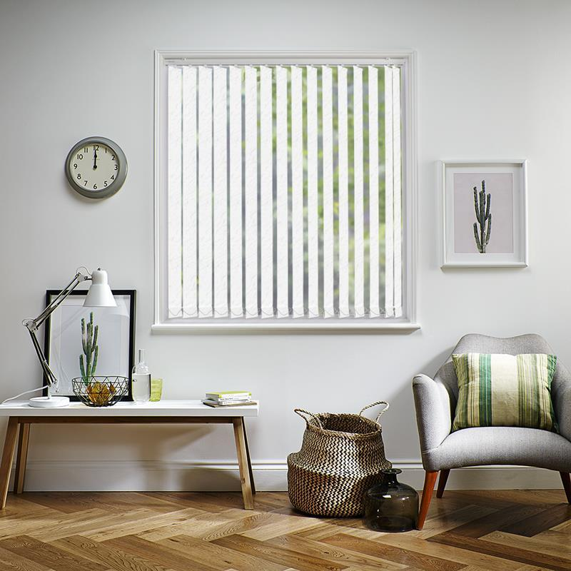 Picasso Pvc Blackout Frost 89mm Vertical Blind Replacement