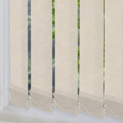 Replacement Vertical Blind Slats Linenweave Flax