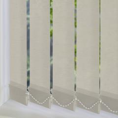 Replacement Vertical Blind Slats Linenweave Silver