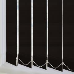 Vertical Blinds Unilux PVC Blackout Black