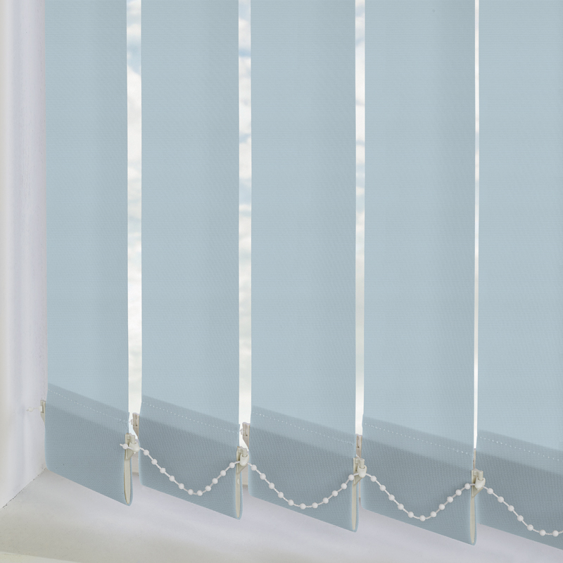 Unilux PVC Blackout Vertical Powder Blue 89mm Vertical Blind Slats