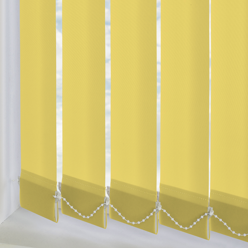Vitra Blackout Acid Yellow 89mm Vertical Blind Slats