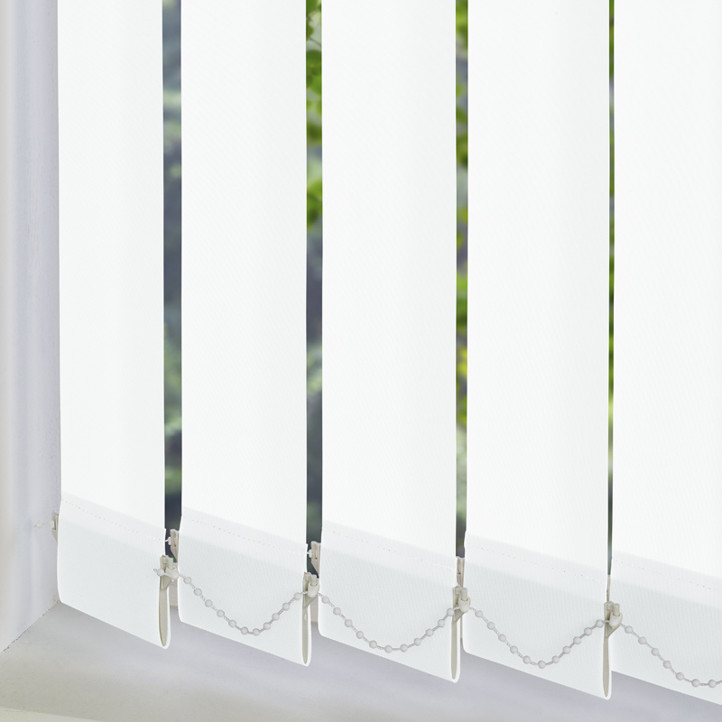 Vitra Blackout White 89mm Vertical Blind Slats
