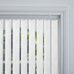 Rigid PVC Vertical Blinds Amari Blackout White Rigid PVC