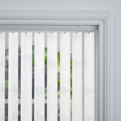 Rigid PVC Vertical Blinds Carerra Blackout White Rigid PVC